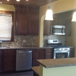 A view of the completed kitchen in Hasbrouck Heights, NJ.