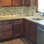 New backsplash and kitchen sink and faucet installed in Hasbrouck Heights, NJ.