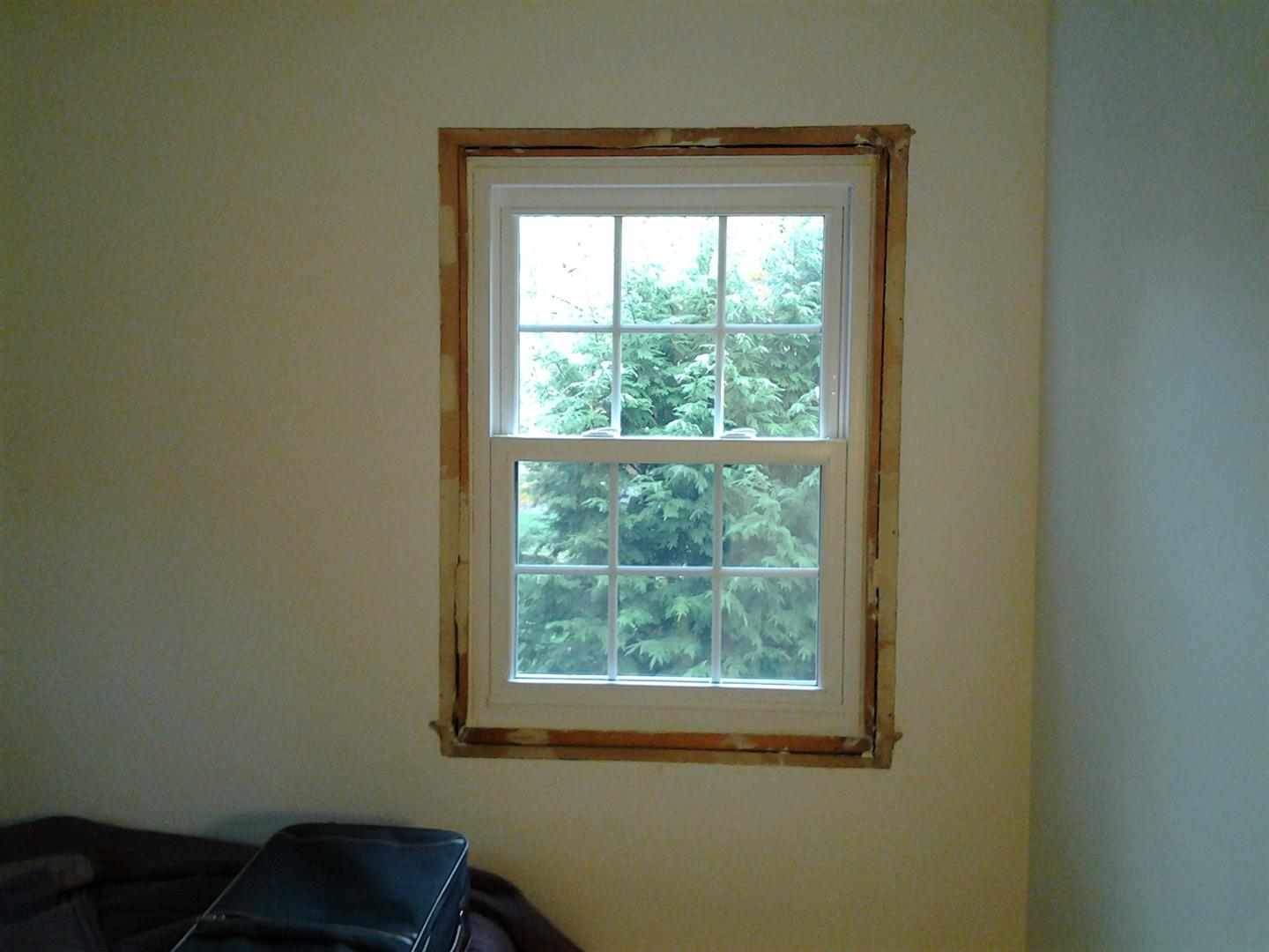 Interior vinyl window trim for Installing vinyl replacement windows