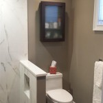 Completed bathroom renovation in Millburn, NJ.