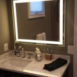 Bathroom vanity and mirror in Millburn, NJ.
