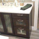 Bathroom vanity cabinet installed in Millburn, NJ.