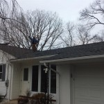 A view of the front of the house with the new GAF Timberline shingles installed in Watchung, NJ.