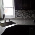 New countertops and backsplash in this Teaneck, New Jersey kitchen remodel.