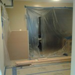 All prep work has been completed in the kitchen area for construction to begin.