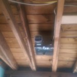 The new exhaust fan placed in the bathroom in Montclair, NJ.
