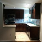 The completed kitchen in Teaneck, NJ.