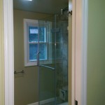 A view of the new shower doors in Montclair, NJ.