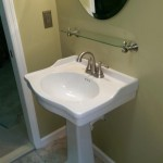 The pedestal sink in Montclair, NJ.