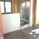 New opening installed and sheetrocked between the kitchen and dining room in Hasbrouck Heights, NJ.