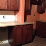 New custom cabinets and granite countertops installed in Hasbrouck Heights, NJ.