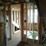 Interior framing showing the front bedroom in Short Hills, NJ.