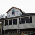 Framing of the front dormer in Short Hills, NJ completed.