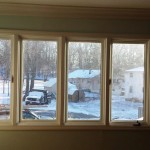 Old living room window in Hopatcong, NJ prior to replacement.