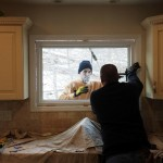 Installing a new fixed lite (or picture) window in the kitchen in Hopatcong, NJ.