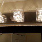 The new lighting above the vanity mirror in Nutley, NJ.
