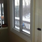 Another view of the newly installed and highly energy-efficient slider window in the kitchen in Hopatcong, NJ.