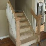 The new staircase with custom railings to match the other staircase in the house.