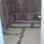 This bathroom in Nutley, NJ has been gutted.