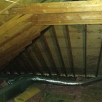 The attic space in Short Hills, NJ prior to work starting.