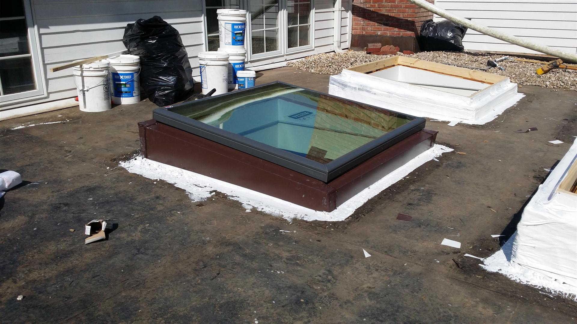 Amazing The Velux Skylights Are Beautiful And Are Perfect For This Flat Roof.
