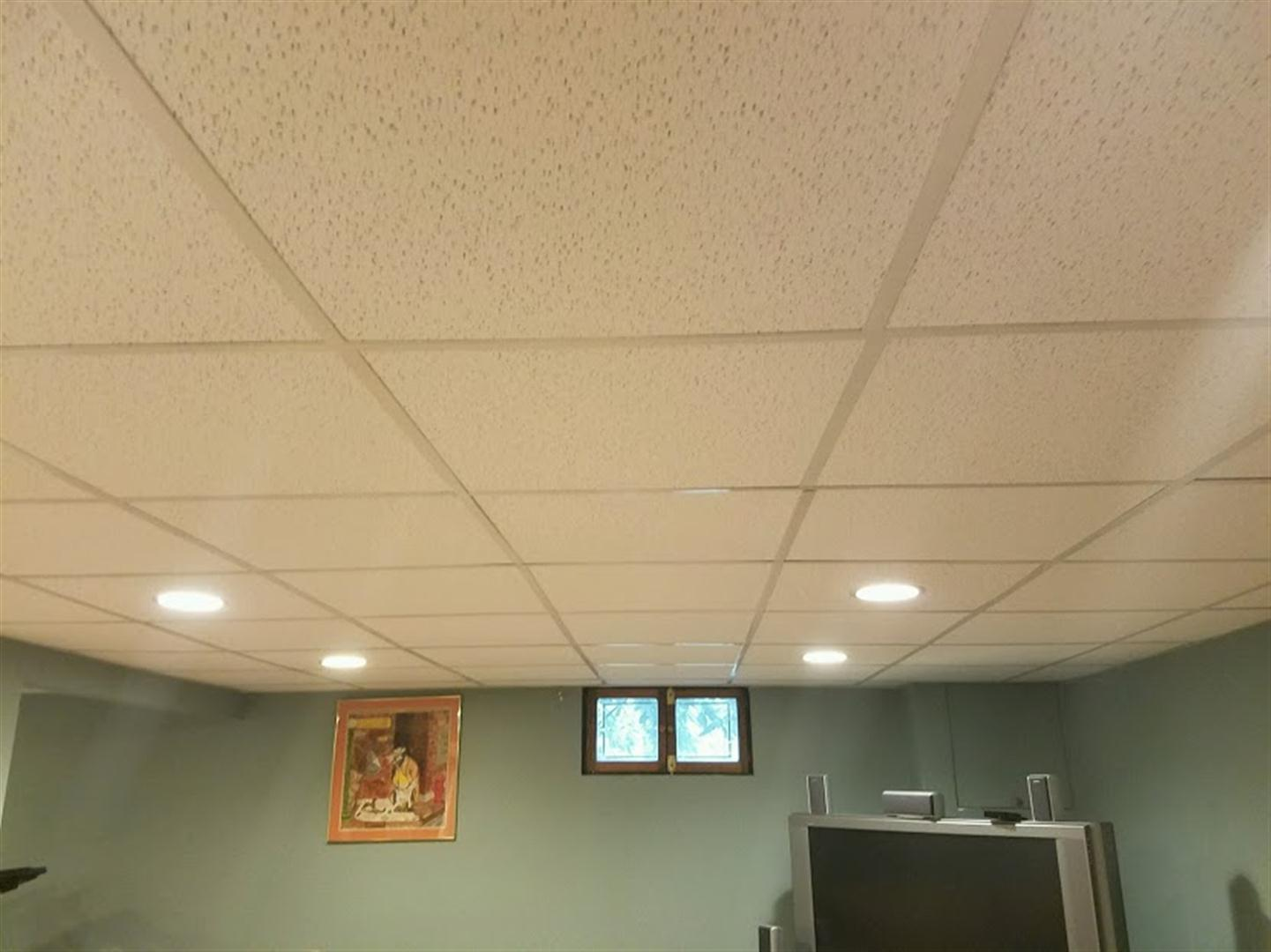 Randolph nj water damage repair mm construction morristown another area of tile installed a section of water damaged ceiling doublecrazyfo Choice Image